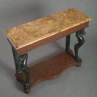 Painted neo-classical console