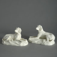 Pair of Parian Hounds