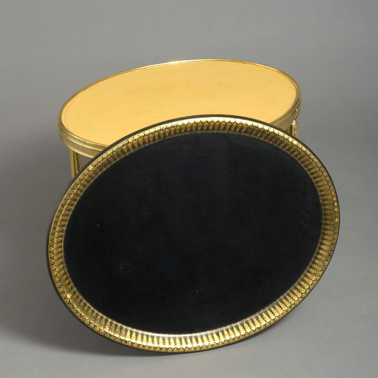 A Regency Papier Mache Tray Table