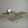 Pair of Mid-century Brass Low Tables