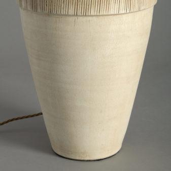 Studio Pottery Vase Lamp