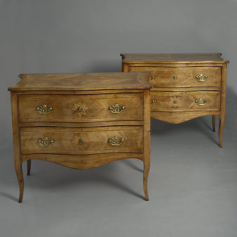 Pair of Walnut Commode
