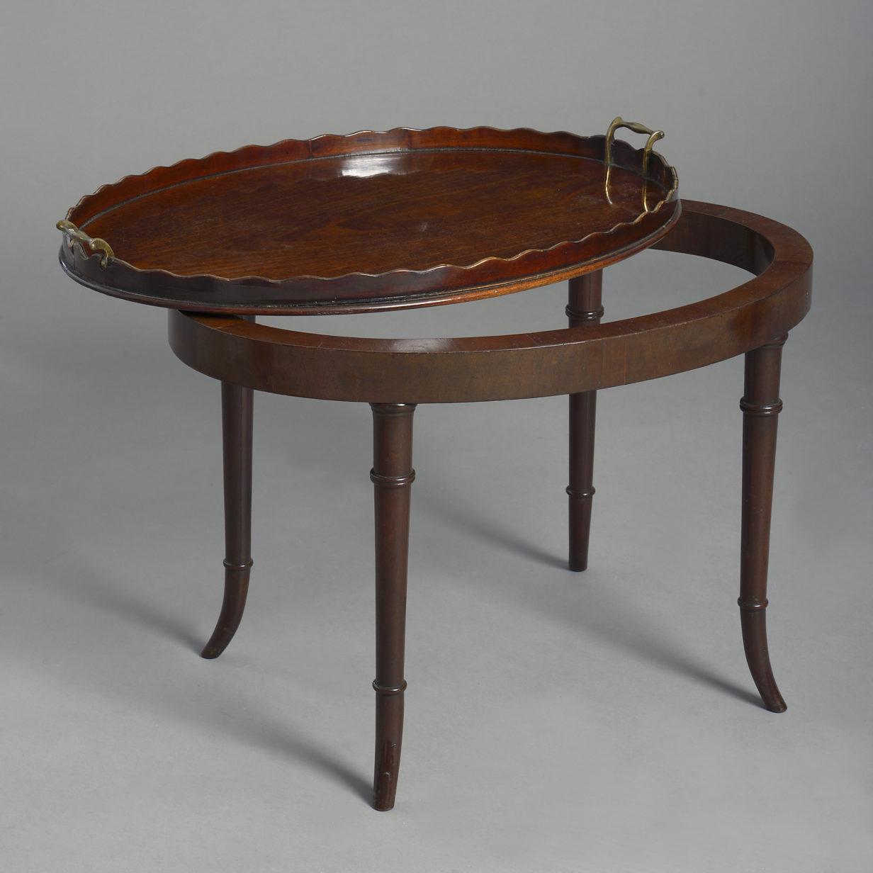 Mahogany Tray Table