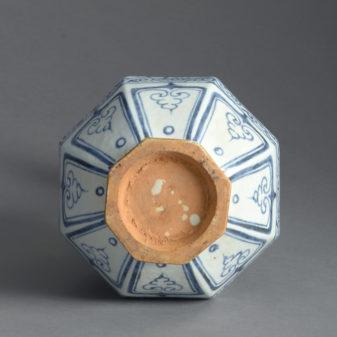 Turkish Blue and White Vase