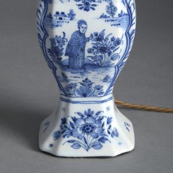 Blue and White Delft Vase Lamp