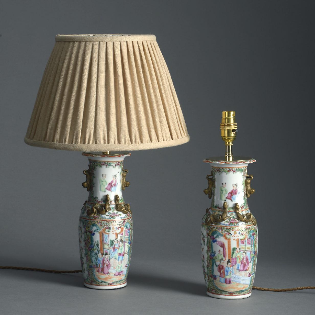 Small Pair of Mandarin Lamps