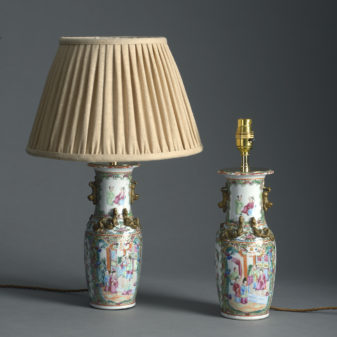 Small Pair of Mandarin Lamps