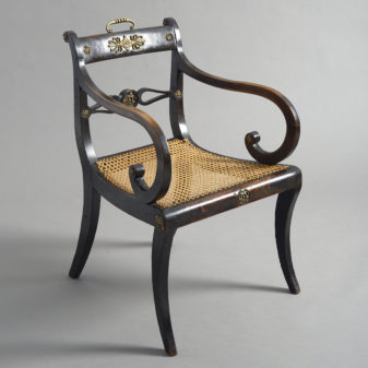Regency Ebonised Armchair