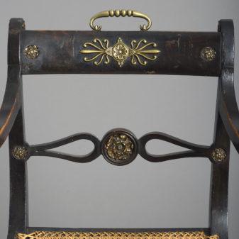 Regency Ebonised Armchair