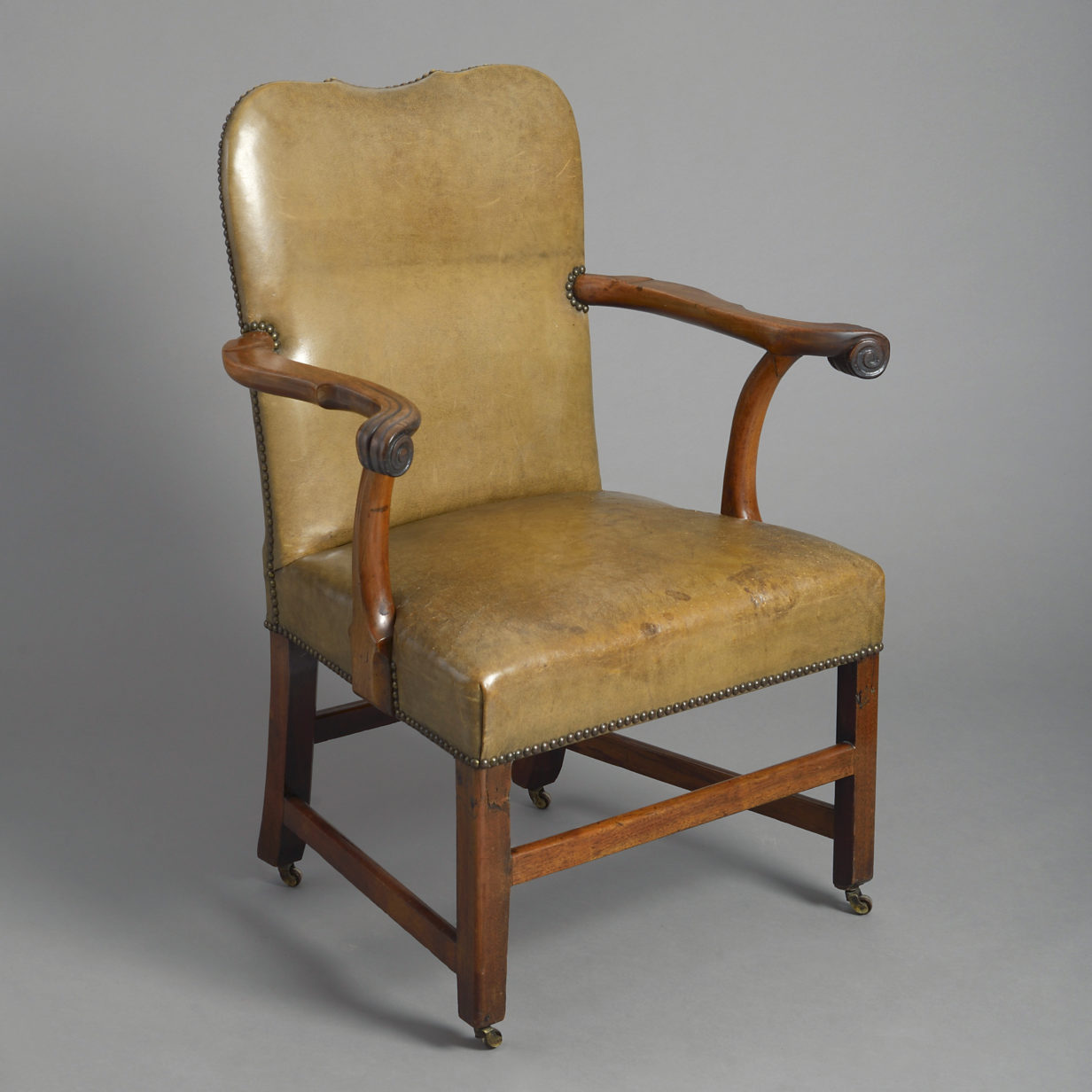 George II Leather Armchair