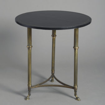 Leather Topped Table