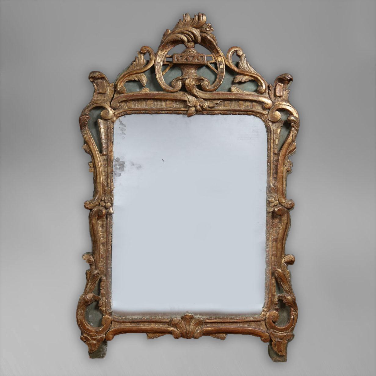 Louis XV Period Parcel Gilt Mirror