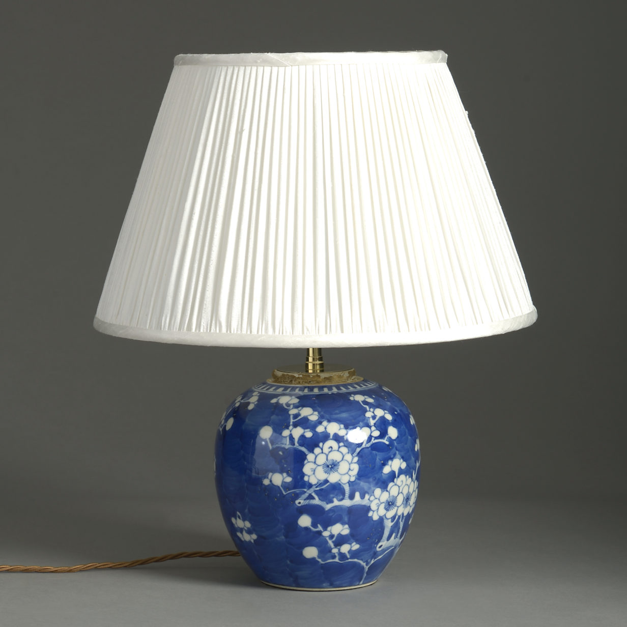 Small Blue and White Vase Lamp