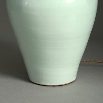 Green Glazed Vase Lamp