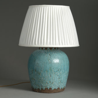 Turquoise Vase Lamp