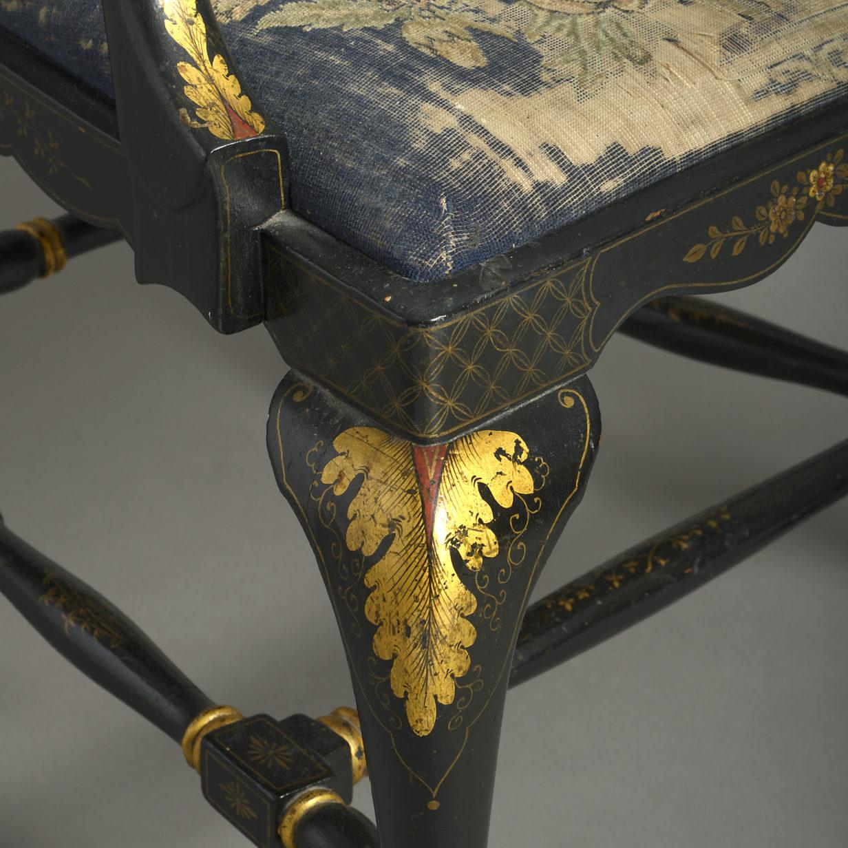 Japanned Armchair