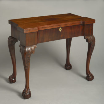Irish Mahogany Card Table