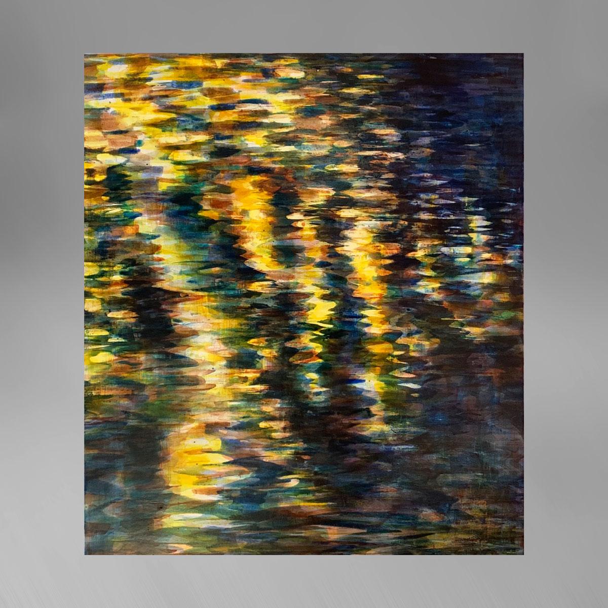 Rupert Muldoon Night River: Blue & gold