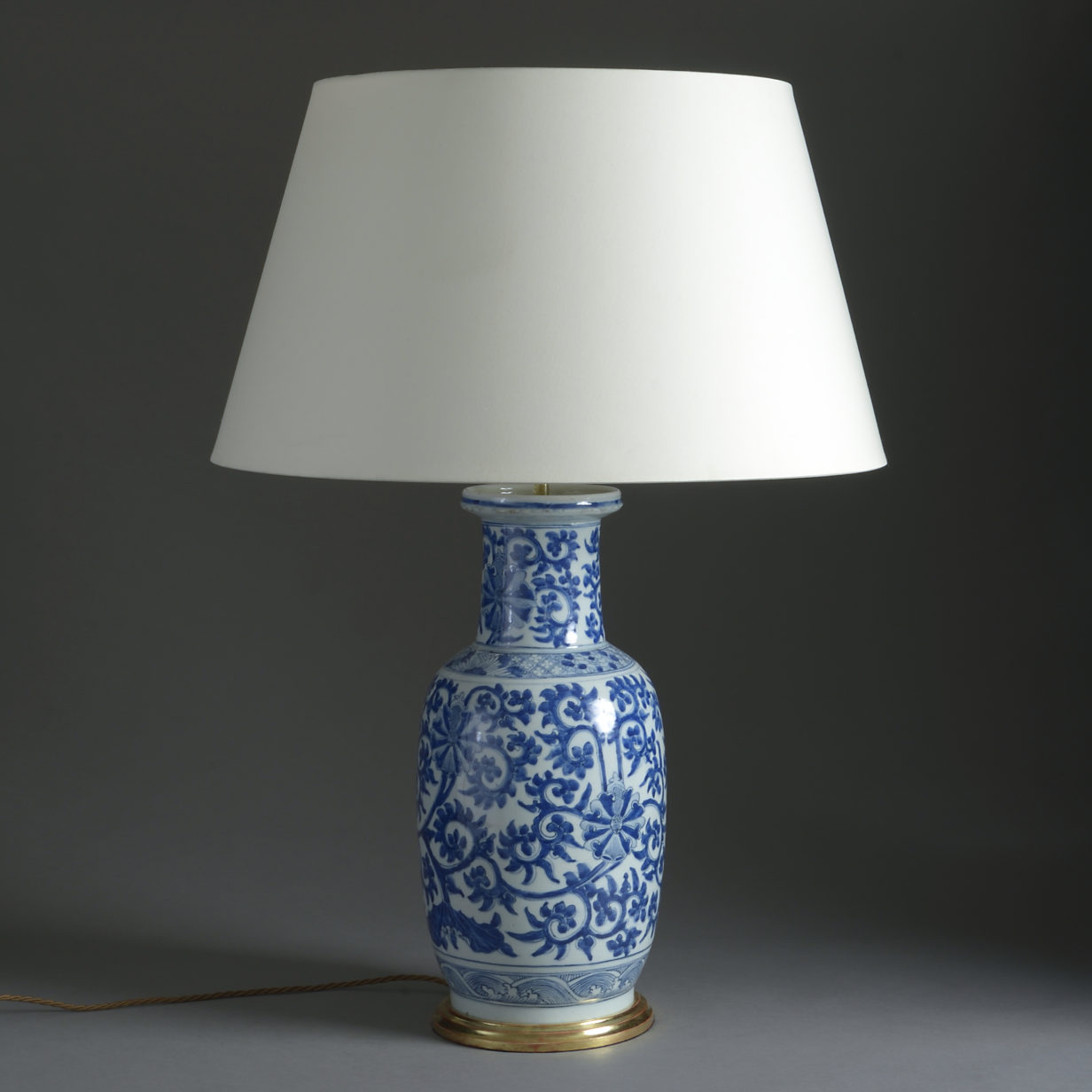 Blue and White Qianlong Vase Lamp