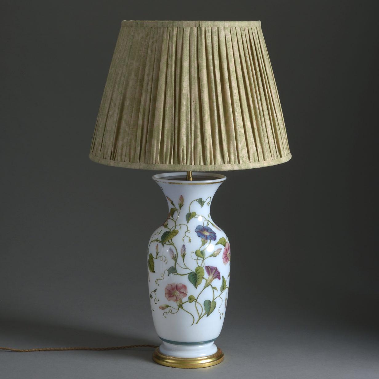 Opaline Vase Lamp