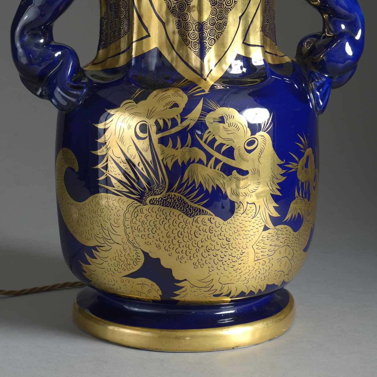 Mason's Ironstone Dragon Vase Lamp