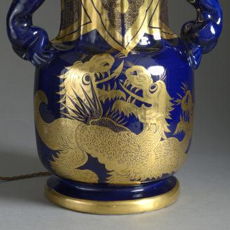 Mason's Ironstone Dragon Vase Lamp