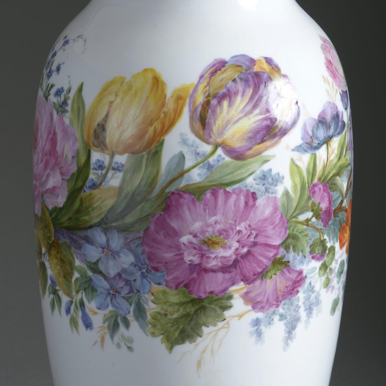 Floral Porcelain Vase Lamp