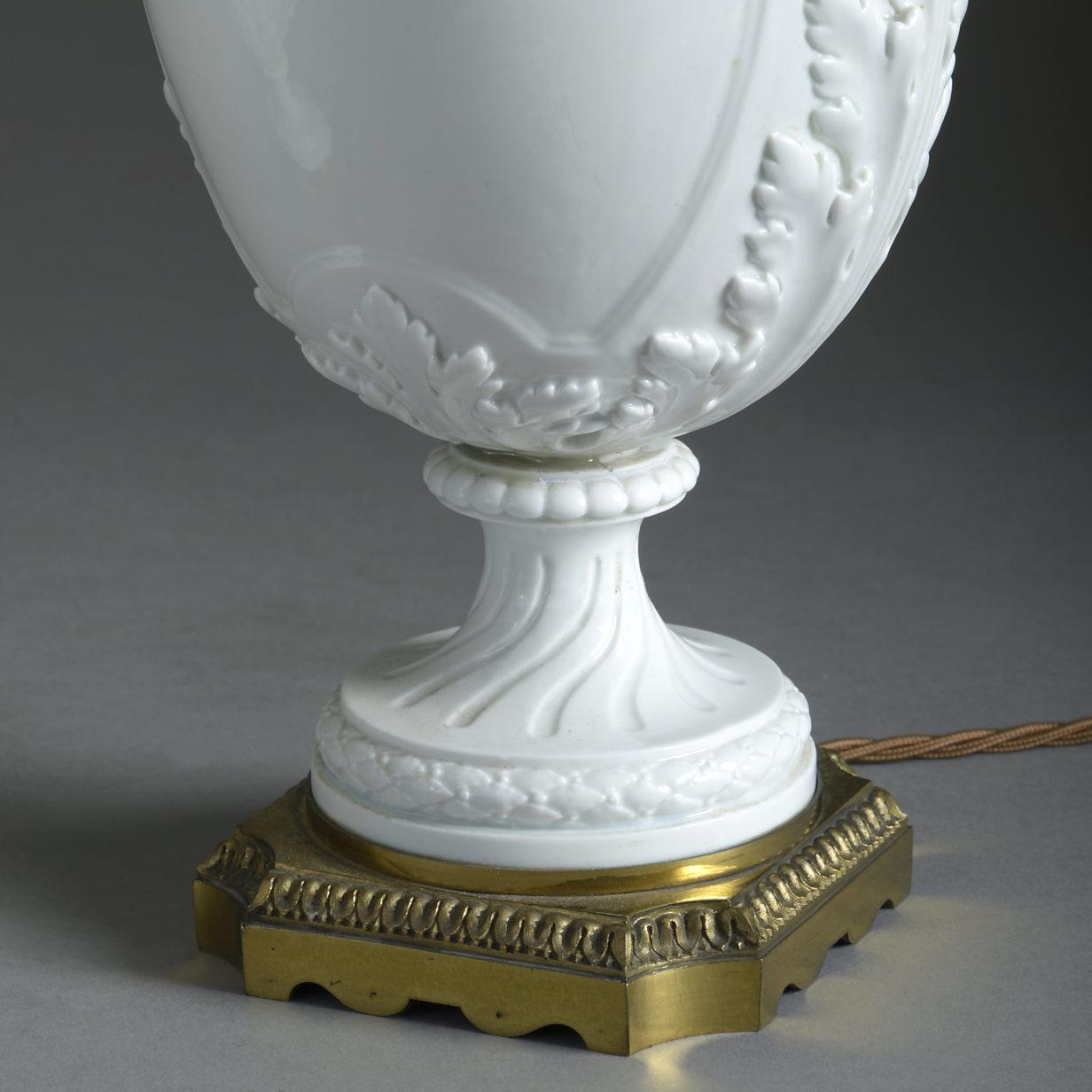 Pair of Vincennes Style Vase Lamps