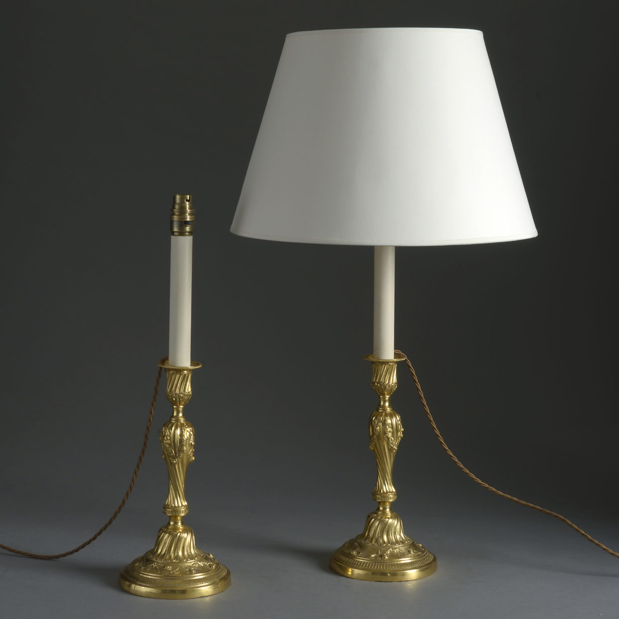 Pair of Rococo Candlestick Lamps
