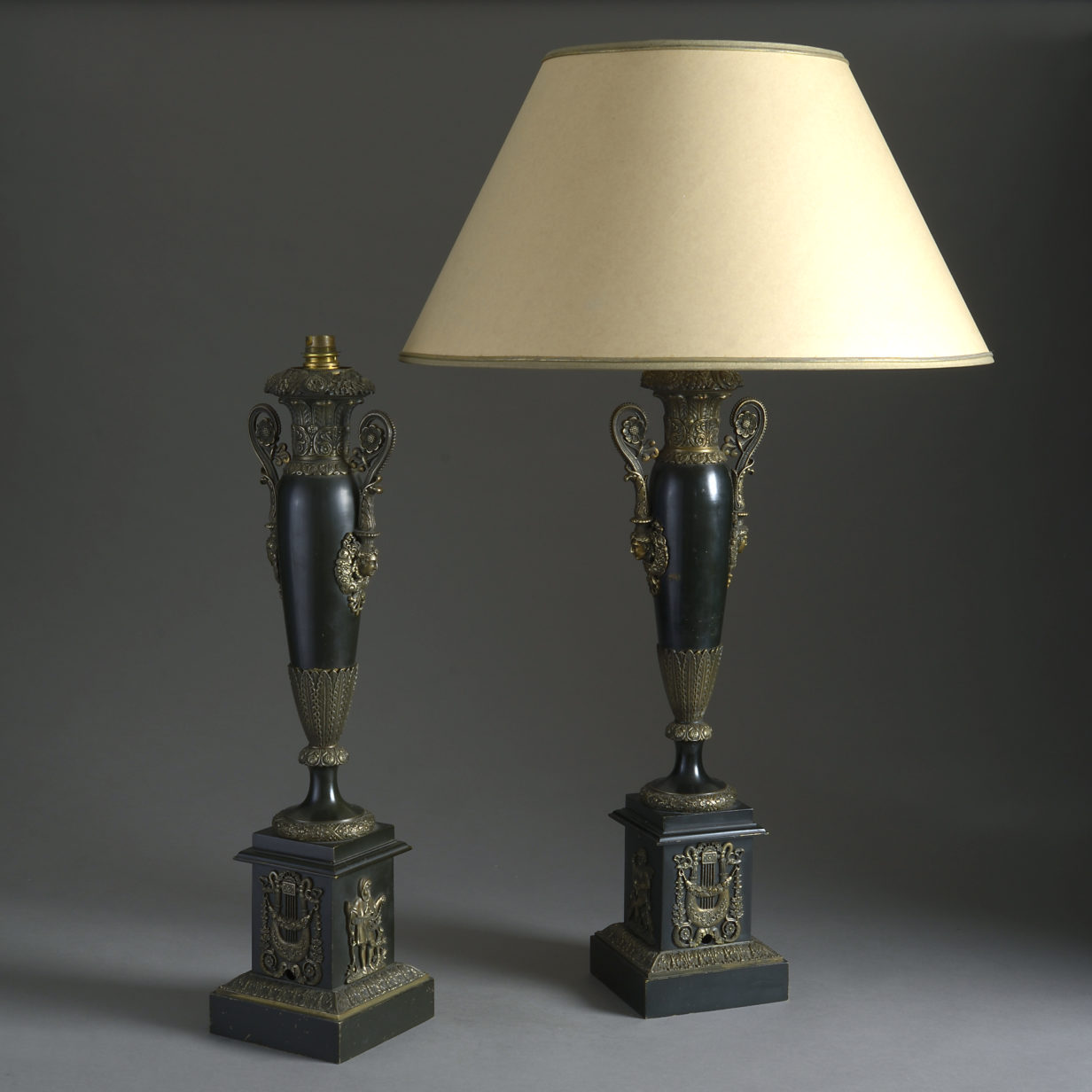 Pair of Tole Lamp Bases
