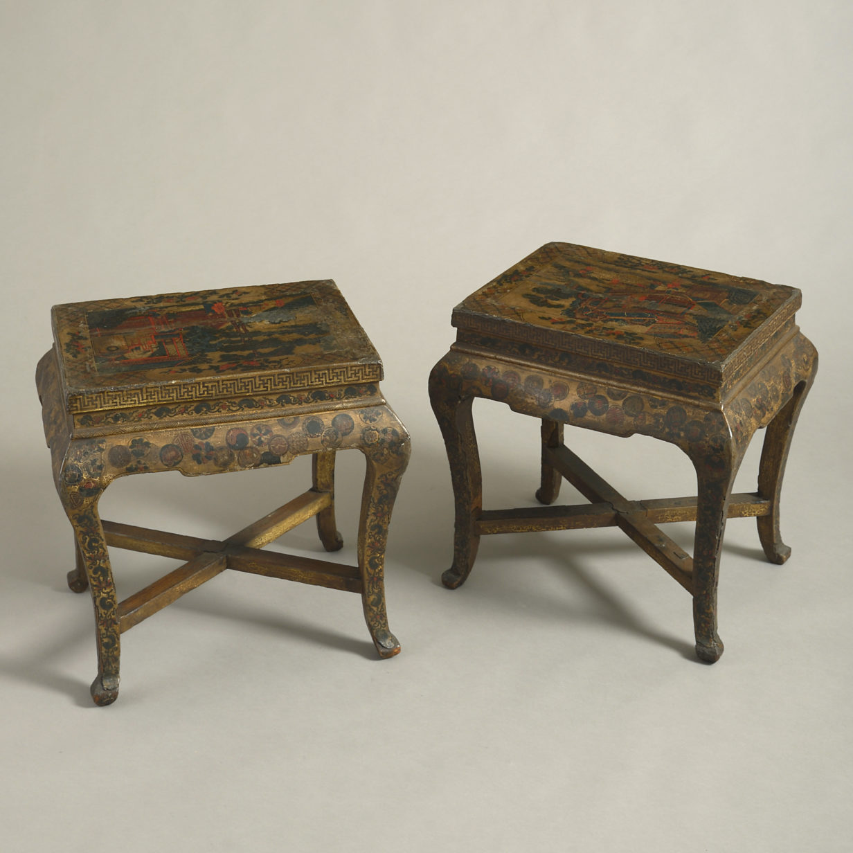 Pair of Lacquer End Tables