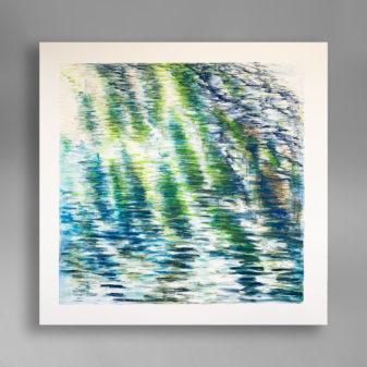 Rupert Muldoon Green Light Over Water Watercolour