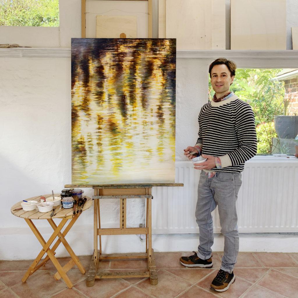 Rupert Muldoon in the Studio
