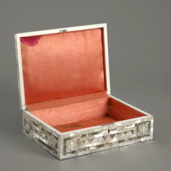 Mother of pearl jewellery box