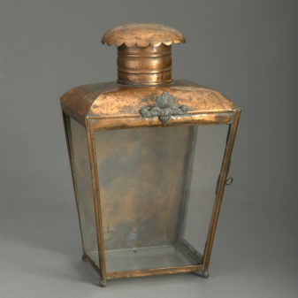 Victorian Copper Wall Lantern