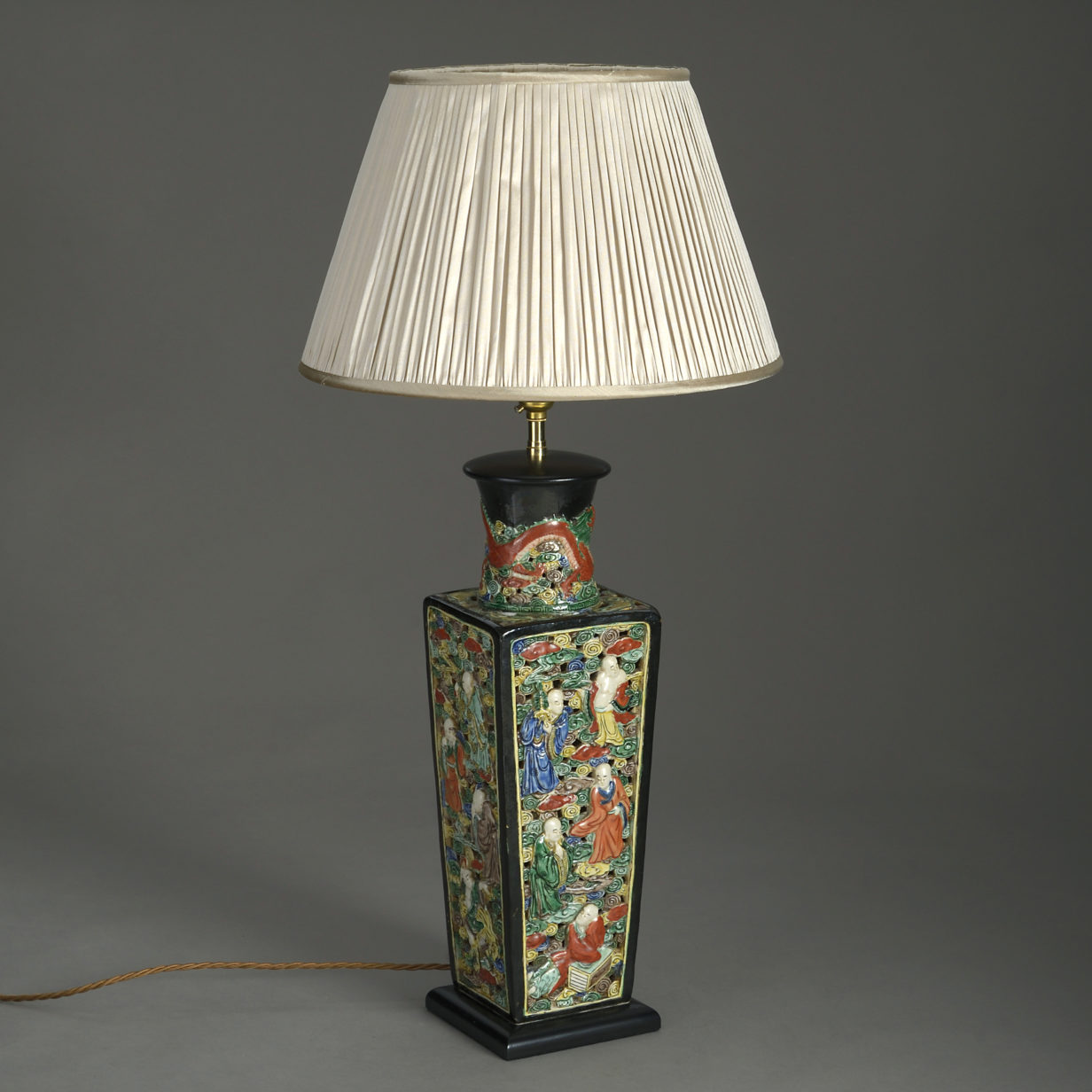 Chinese Square Vase Lamp