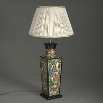 Chinese Square Vase Lamp