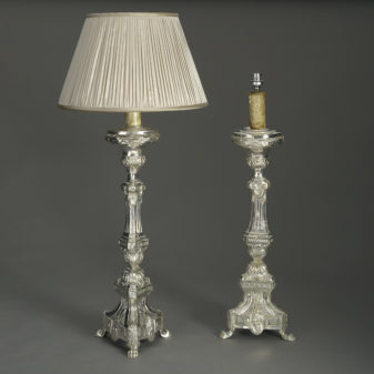 Pair of Baroque Candle Lamps