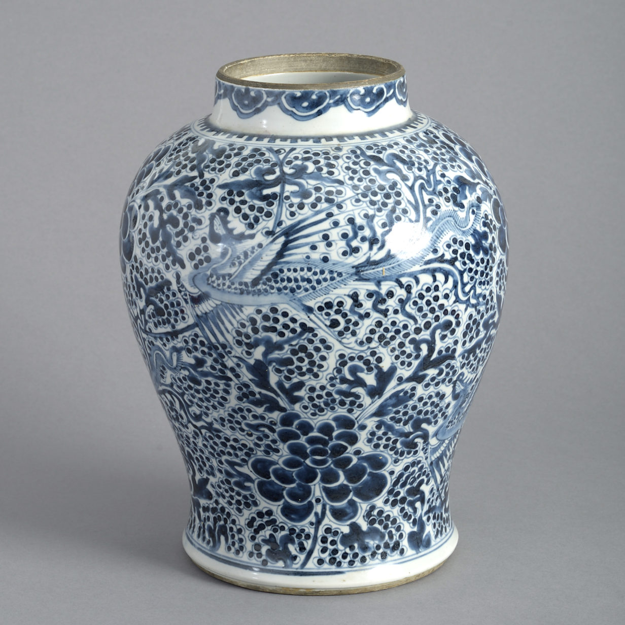 Light Blue and White Kangxi Vase