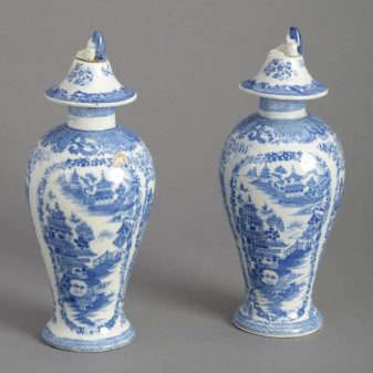 Pair of Staffordshire Vases