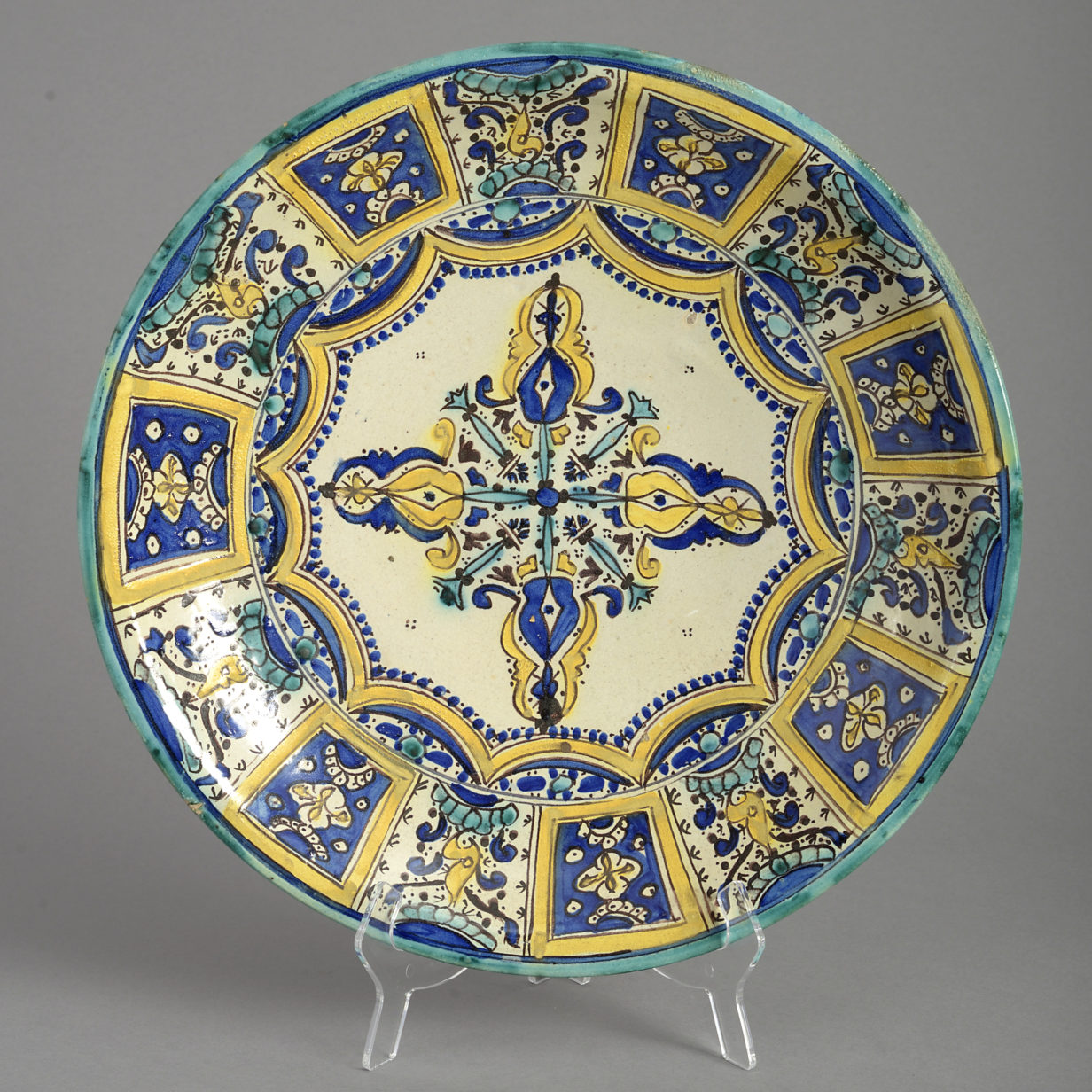 Polychrome Moorish Charger