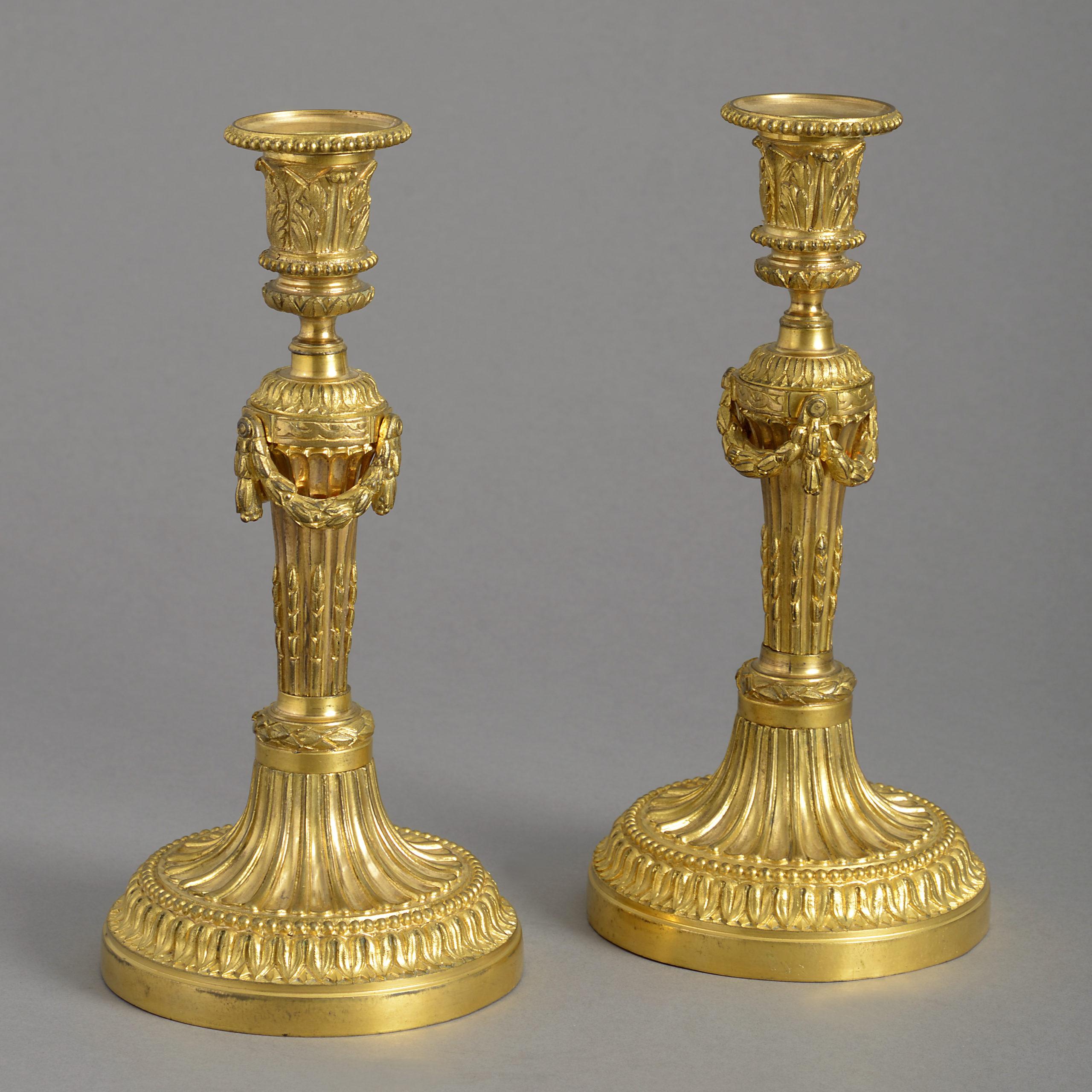Pair of Ormolu Candlesticks