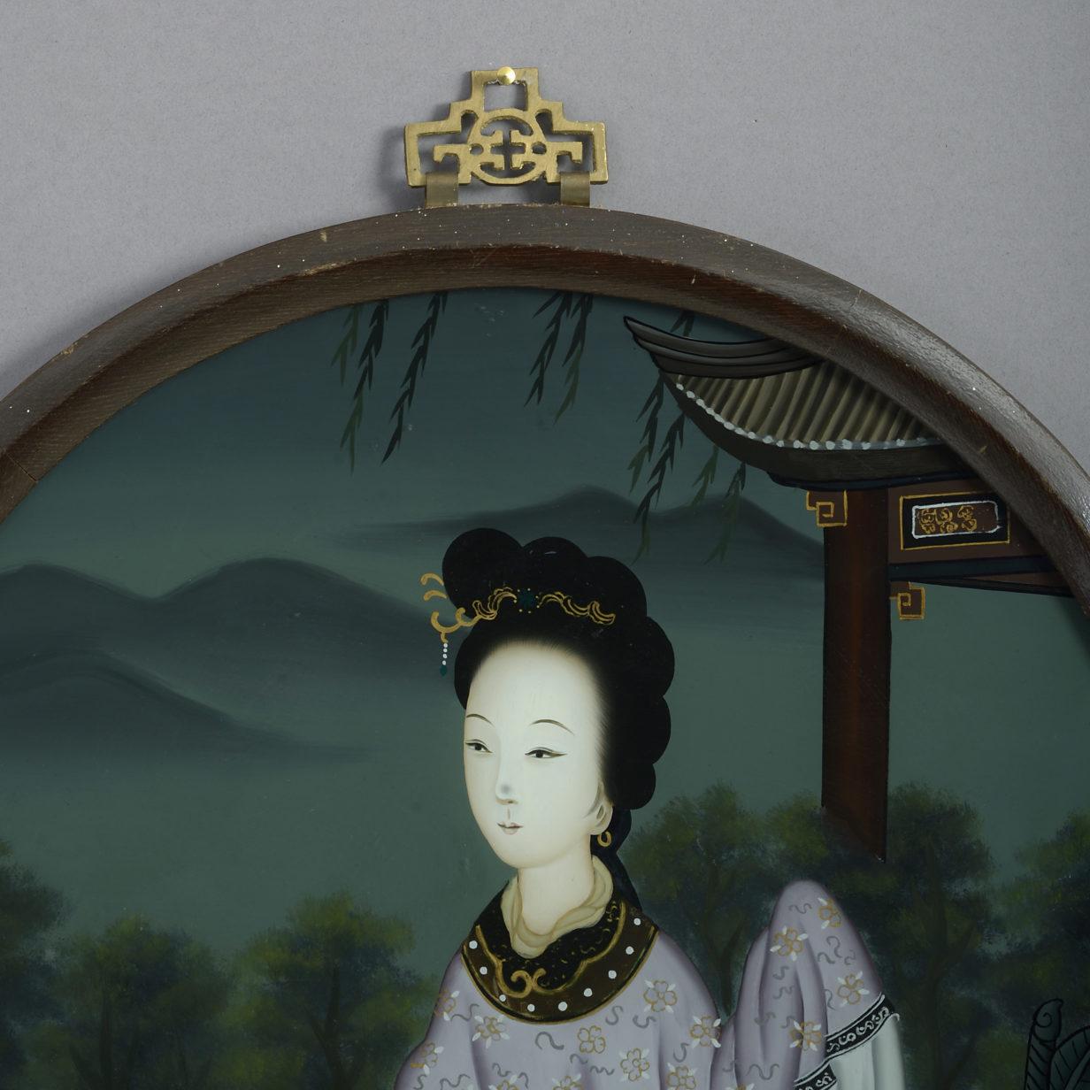 Circular Reverse Glass Portrait