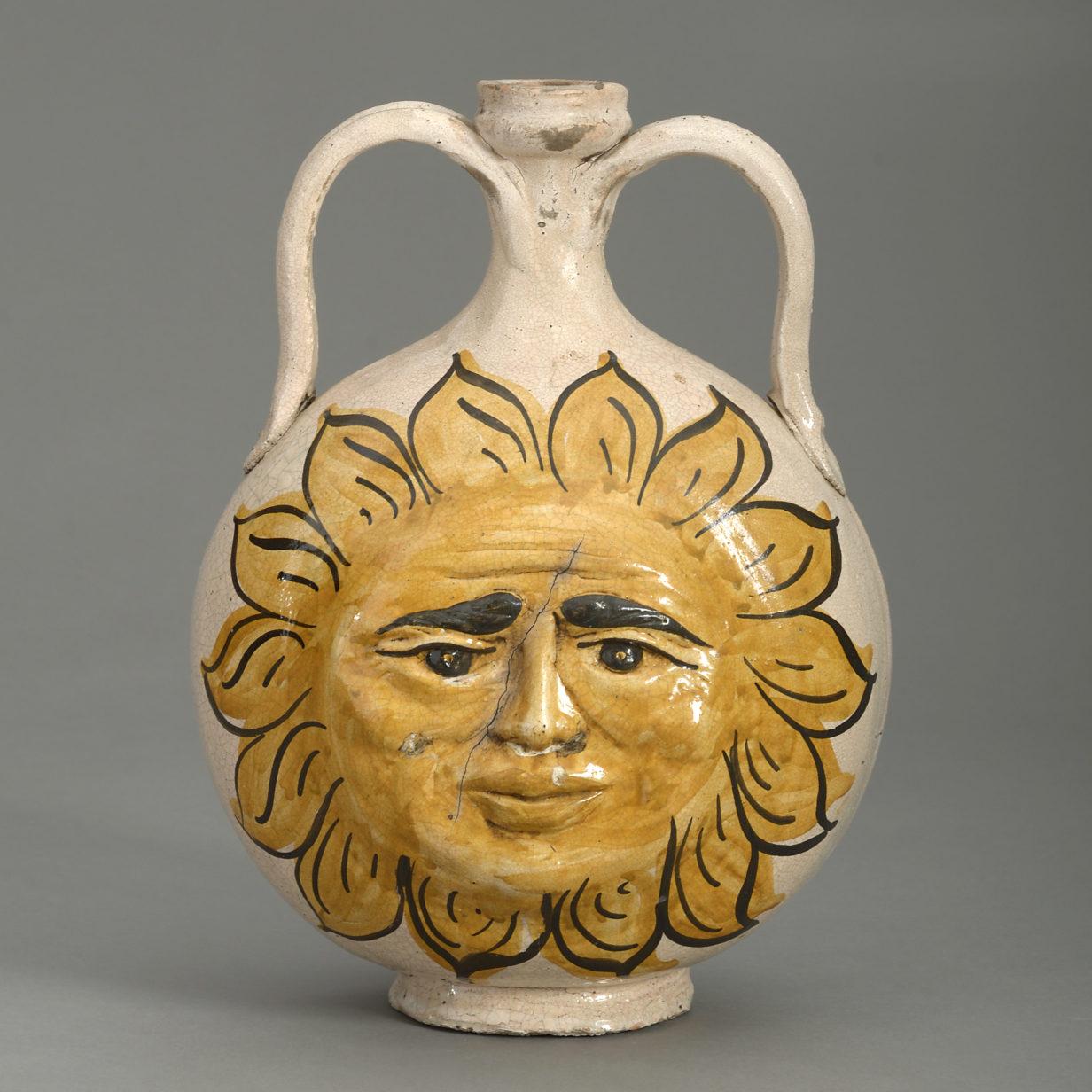 Caltagirone Sunburst Vase