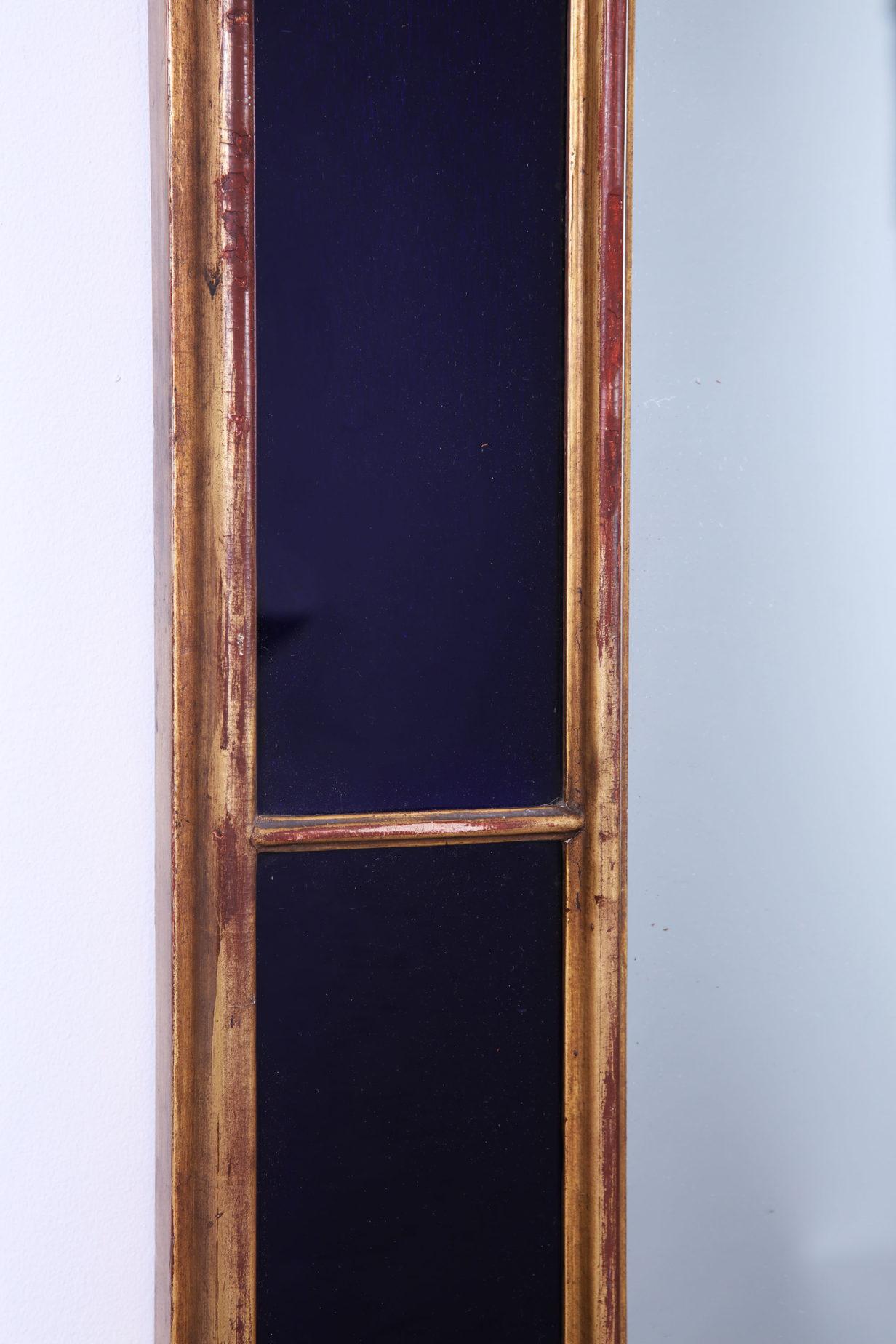 Blue Border Glass Mirror