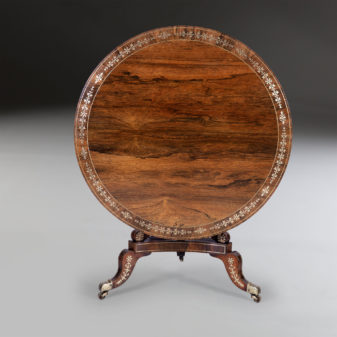 Regency Rosewood Centre Table