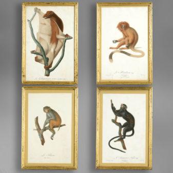Four Monkey Prints