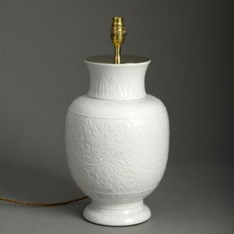 Small White Porcelain Vase Lamp