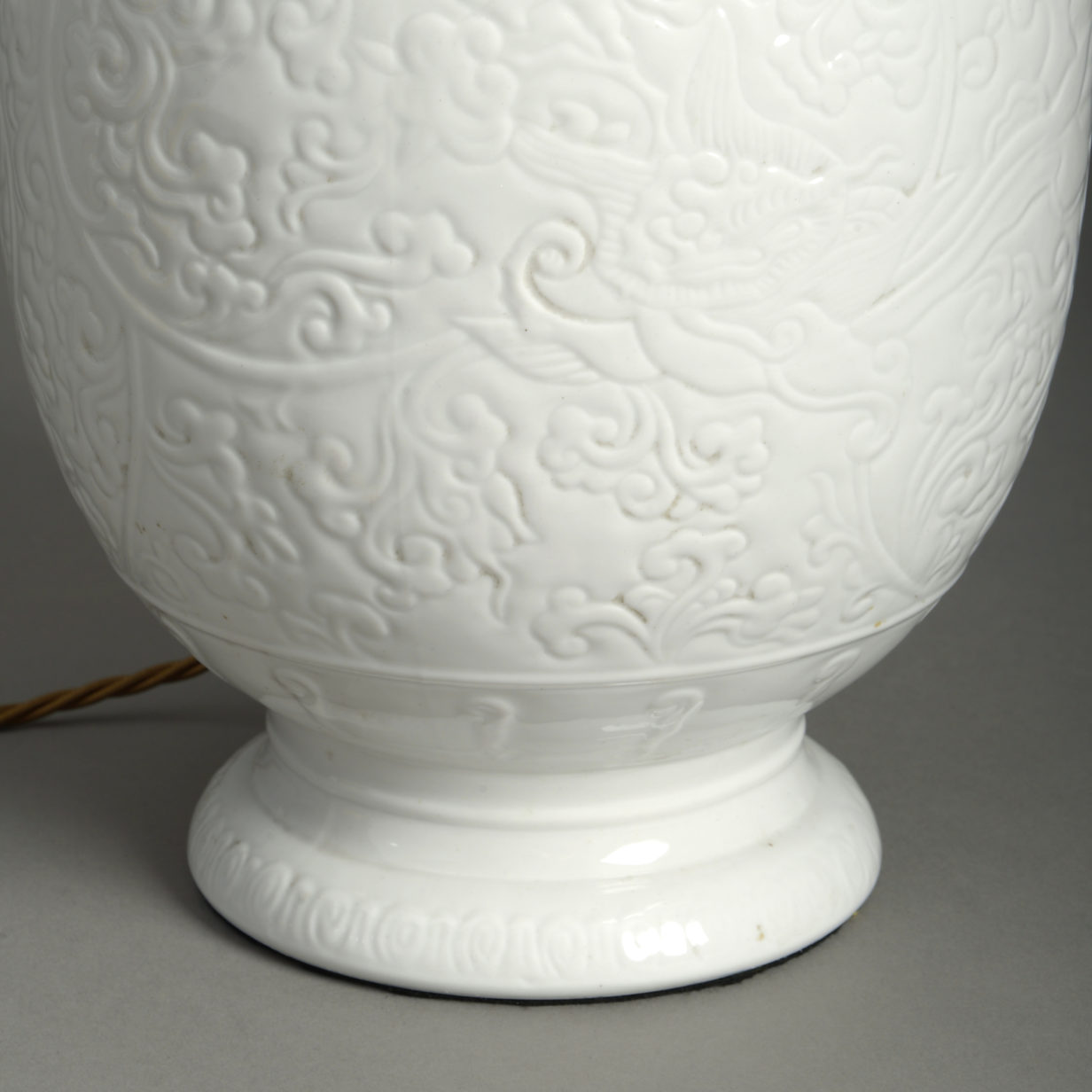 Small White Porcelain Vase Lamp