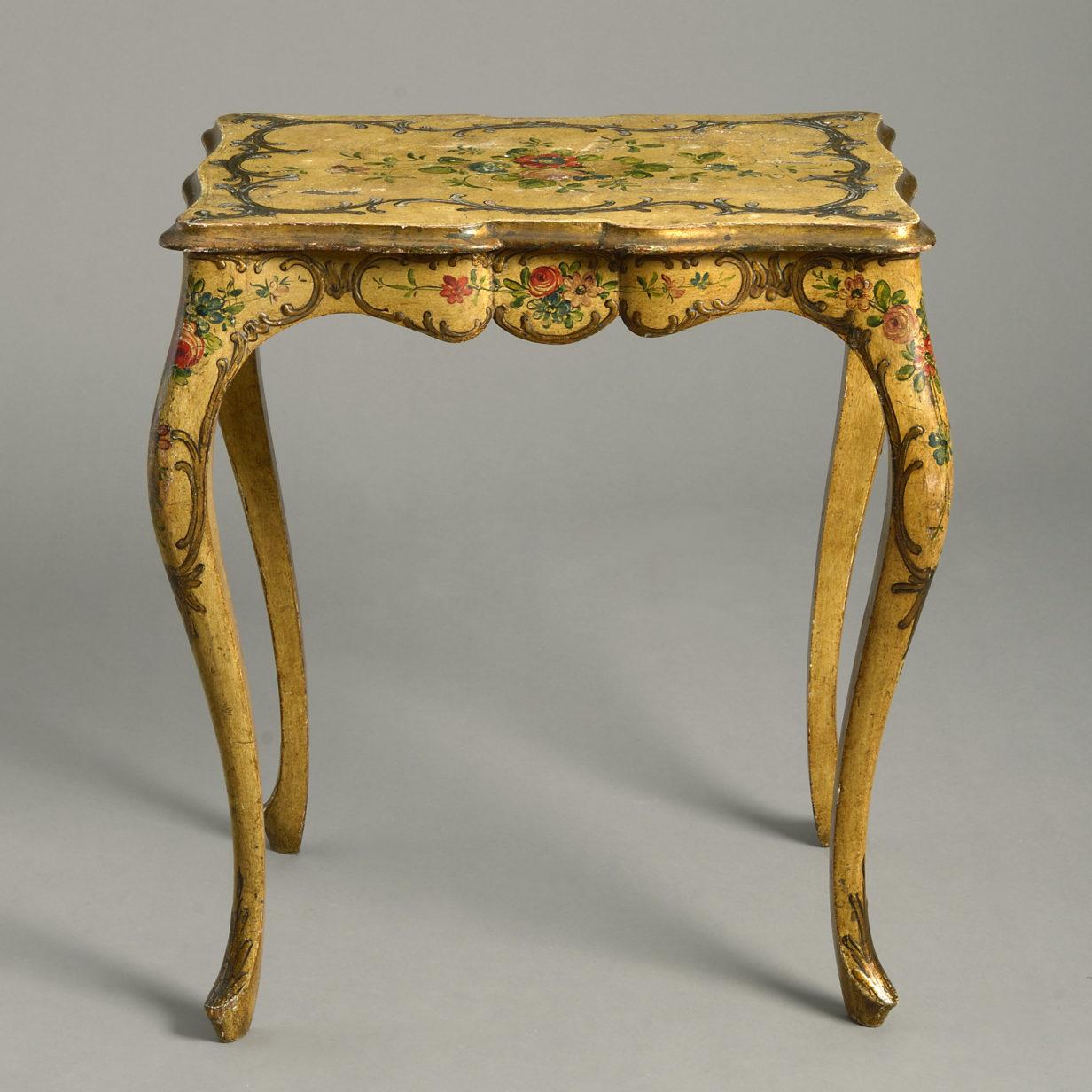 Ochre Rococo Table
